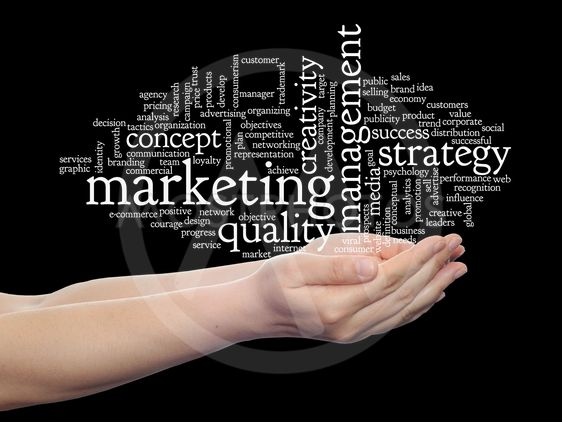 Concept or conceptual abstract business marketing word...