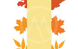 Concept of autumn. Designer blank for a banner with...