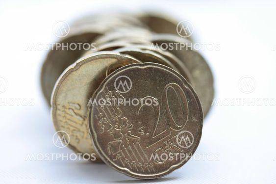 20 Euron senttiä rivin