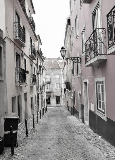 Black and white Lisbon