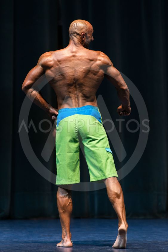 Bodybuilder On A competition For The Win