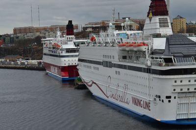 Viking lines två båtar.