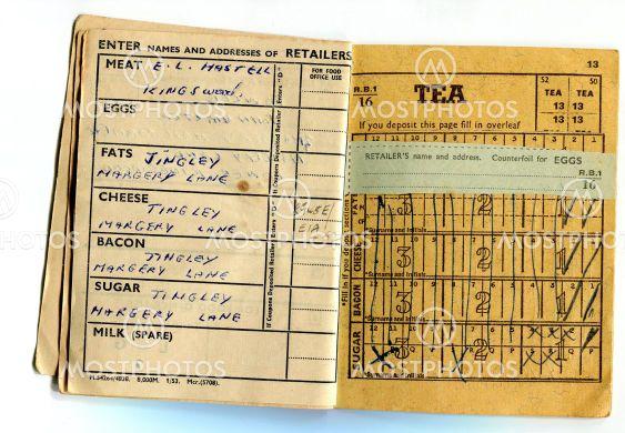 British food ration book
