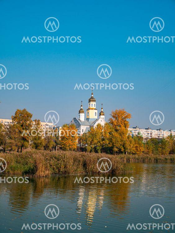 Ukrainian Orthodox Church on the lake.