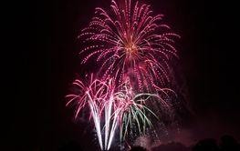 fireworks, Volksfest Bobingen, Germany, 13.08.2012