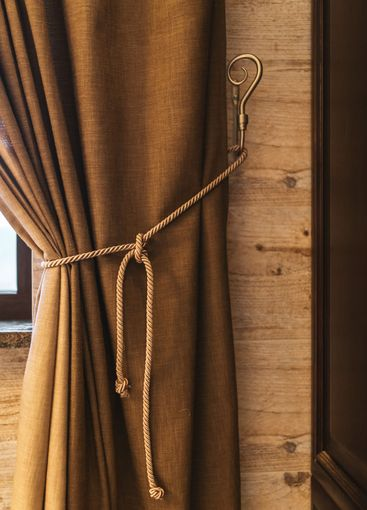 Holder for room curtains. Fragment photo curtain,...