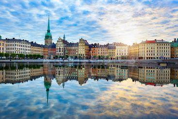 Stockholm, Sweden - July 07, 2015: Colorful morning...