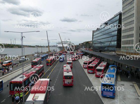 Bussar vid Slussen