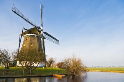 Dutch landscape with windmill