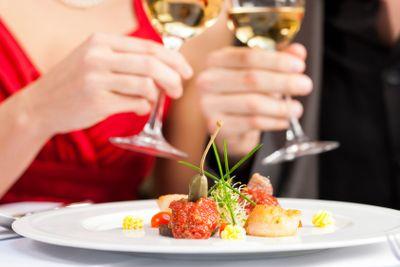 Dinner or lunch in restaurant