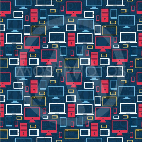 Computer icons seamless pattern