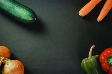 Bunch of vegetables over a dark table