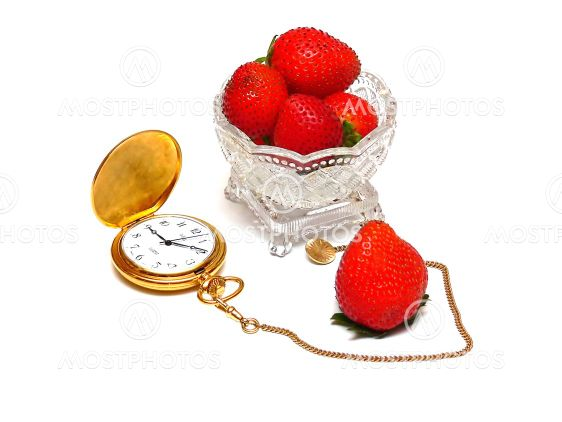 Fruit and pocket watch