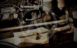 En äldre traktormotor