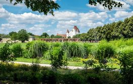 Image of park with view to castle in Ingolstadt