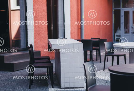 outdoor summer cafe on the streets