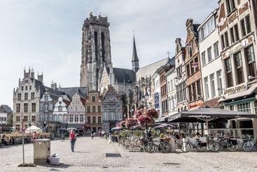 Cityscape Mechelen in Belgium