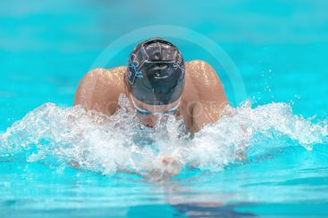 Male breast stroke at the National Swedish swim...