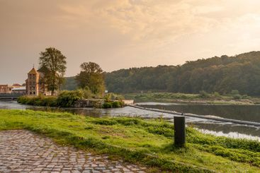 River Mulde near Grimma in Saxony