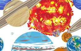 solar system pattern doodle