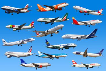 Airplanes Airlines from Europe Lufthansa Ryanair Easyjet...