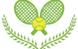 Stock Illustration Tennis Logo with Wreath