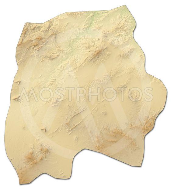 Relief map - Kef (Tunisia) - 3D-Rendering