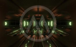 clean style blck tunnel corridor background with blue...