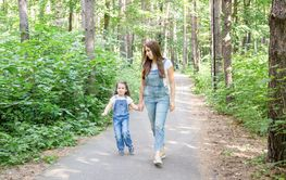Family, children and nature concept - Portrait of...