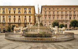 Neptune fountain at Municipio square in Napoli