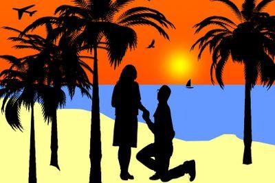 sunset beach marriage proposal