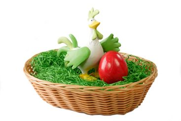 Cock in a basket