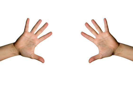 Åben palm hånd
