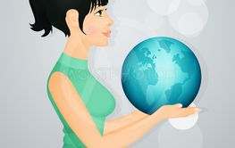girl with world in her hands