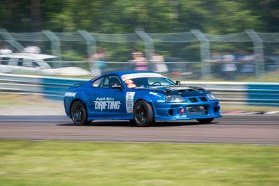 Racing drifting Toyota Supra