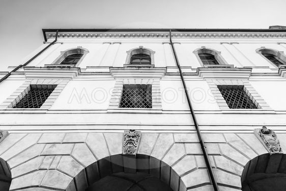 Facade of an Italian medieval building.