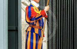 Papal Swiss guard with halberd - Vatican City Rome