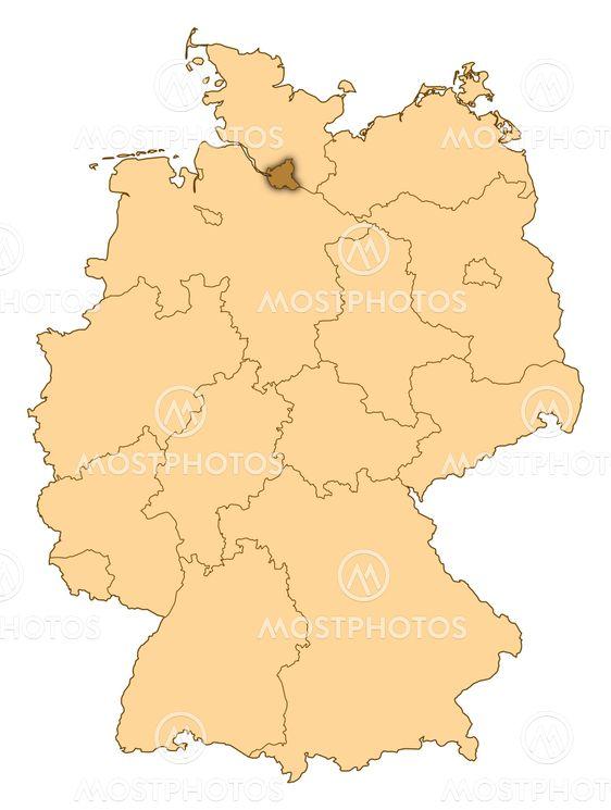 Map Of Germany Hamburg.Map Of Germany Hamburg Hig By Steffen Hammer Mostphotos