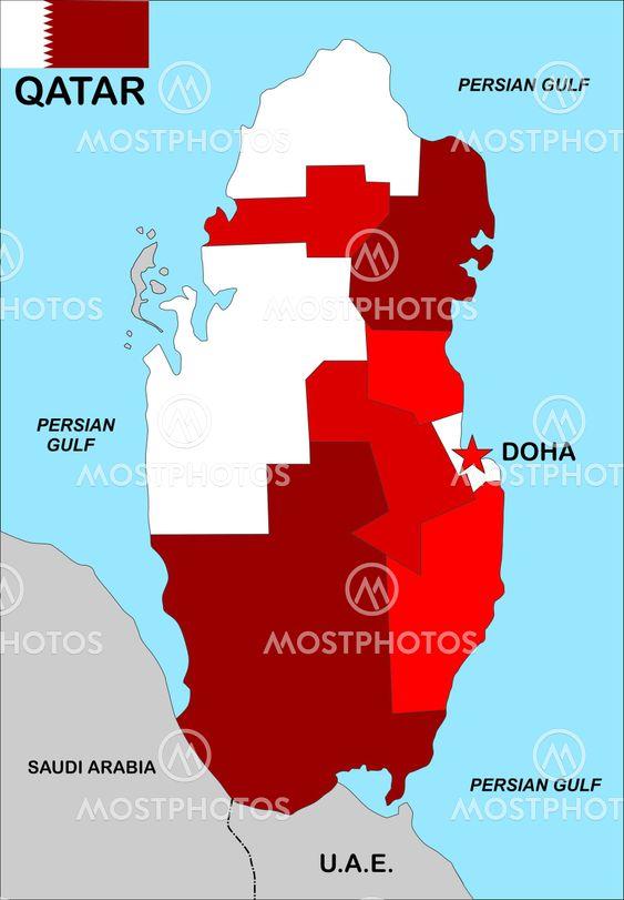 Qatar Karta Av Tudor Antonel Adrian Mostphotos