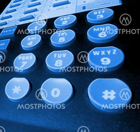 blacklit telefonens taster