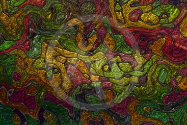 Wonderful abstract illustrated 3D glass pattern panorama...