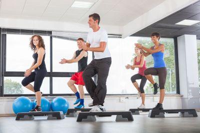 Aerobics Class in a Gym