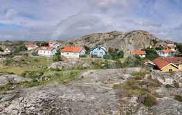 Panorama view over a village in Bohuslän, Sweden