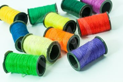 Colorful bobbin threads