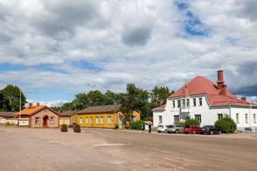 Lower Old Town area of Loviisa, Finland.