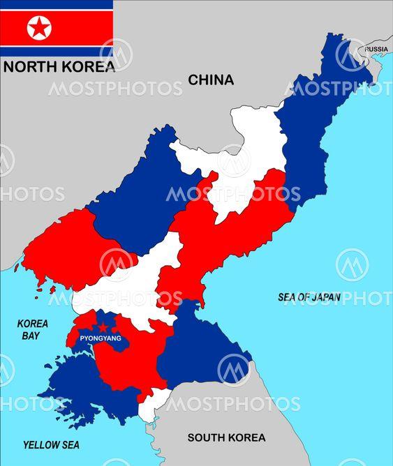 Tudor Antonel Adrian N Kuva Pohjois Korean Kartta Mostphotos
