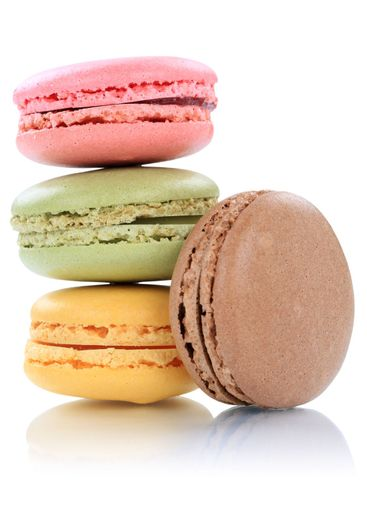 Macarons macaroons cookies stack dessert from France...