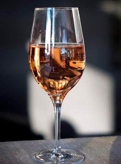 A glass of Rosé
