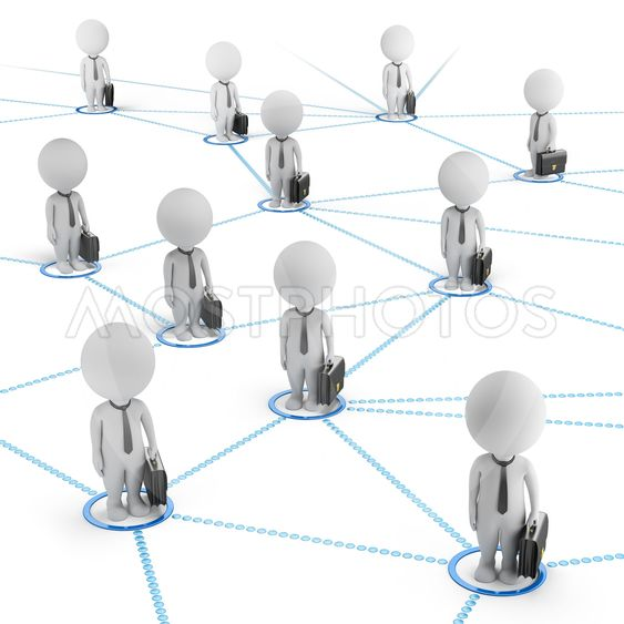 3d small people - business network