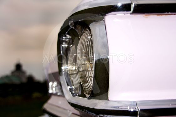 American Classic Car - Closeup Headlights